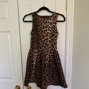 Peplum Cheetah Dress